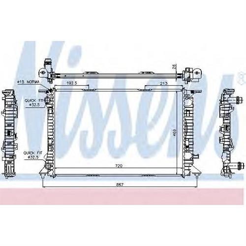 Радиатор AUDI A4 (B8), Q3, Q5, A6 (C7) MT NISSENS 60323