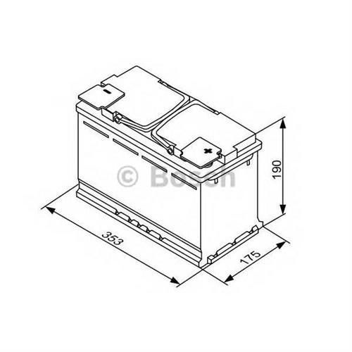 Аккумуляторная батарея 19.5/17.9 евро полярность 95Ah 850A 353/175/190 AGM BOSCH 0092S5A130