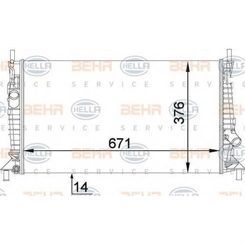 Радиатор [671x376] BEHR HELLA SERVICE 8MK376764281
