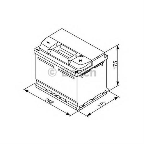 Аккумуляторная батарея 19.5/17.9 евро полярность 53Ah 470A 242/175/175 BOSCH 0092S30041
