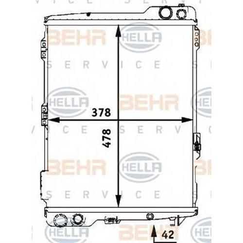 Радиатор [478x378] BEHR HELLA SERVICE 8MK376711281