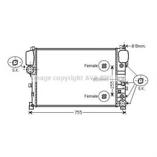Радиатор системы охлаждения для Mercedes-Benz W221 05 AVA QUALITY COOLING MS2447