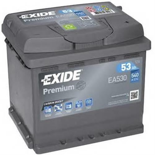 Аккумуляторная батарея 19.5/17.9 евро полярность 53Ah 540A 207/175/190 EXIDE EA530