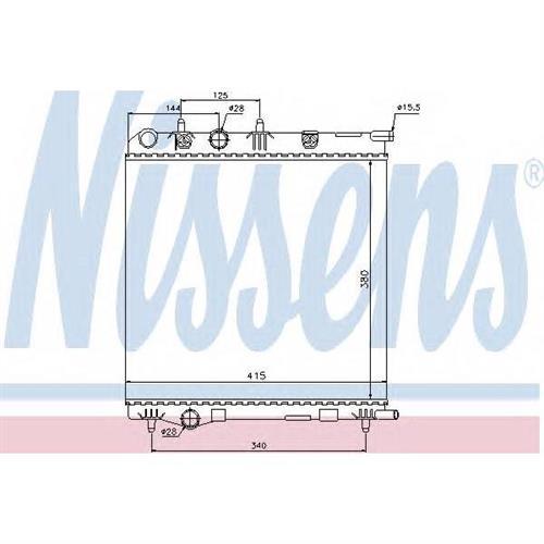 Радиатор CITROEN C3 II, PEUGEOT 207, 208 MT NISSENS 636002