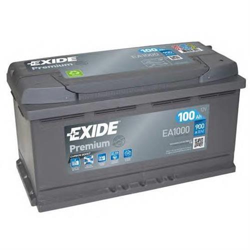 Аккумуляторная батарея 19.5/17.9 евро полярность 100Ah 900A 353/175/190 EXIDE EA1000