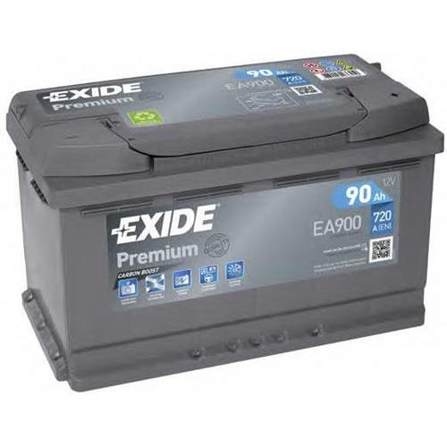 Аккумуляторная батарея 19.5/17.9 евро полярность 90Ah 720A 315/175/190 CARBON BOOST EXIDE EA900