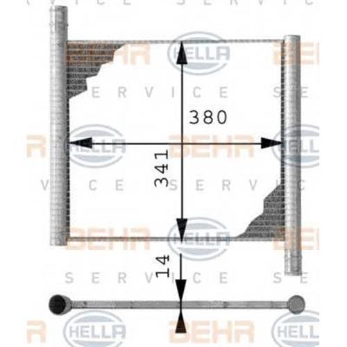 РАДИАТОР [380X341] BEHR HELLA SERVICE 8MK376712551