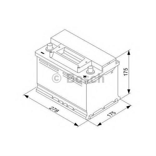 Аккумуляторная батарея 19.5/17.9 евро полярность 70Ah 640A 278/175/175 BOSCH 0092S30070