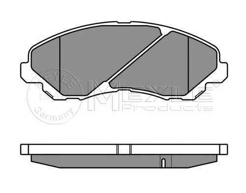 0252358416/W BRAKE PAD SET, DISC BRAKE MEYLE-ORIGINAL QUALITY F