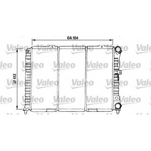 Радиатор (554x412) VALEO 730376
