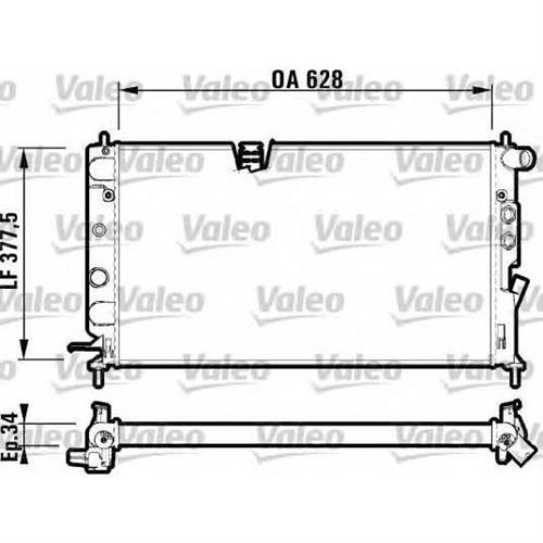 Радиатор [628x377] [не поставляется] VALEO 732348