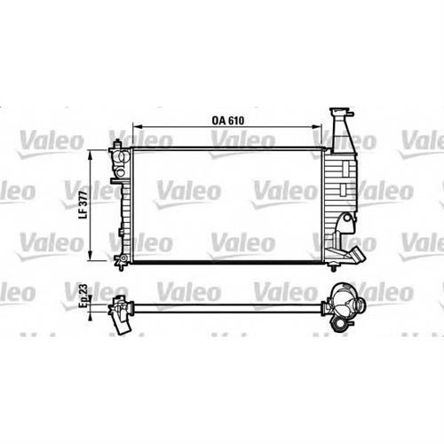 Радиатор (610x377) VALEO 732563