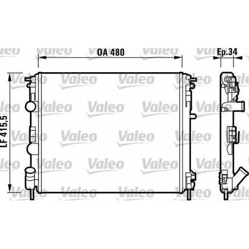 Радиатор (480x415) VALEO 732721