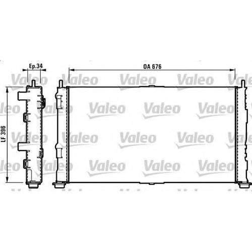 Радиатор охлаждения VALEO 732755