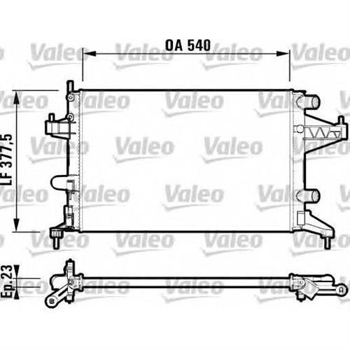 Радиатор (540x375) VALEO 732825