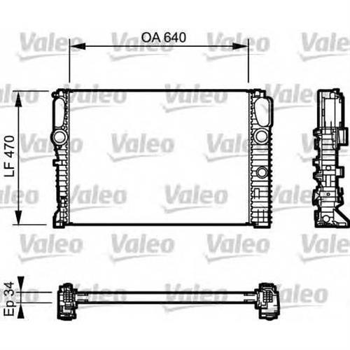 Радиатор (470x640) VALEO 732849
