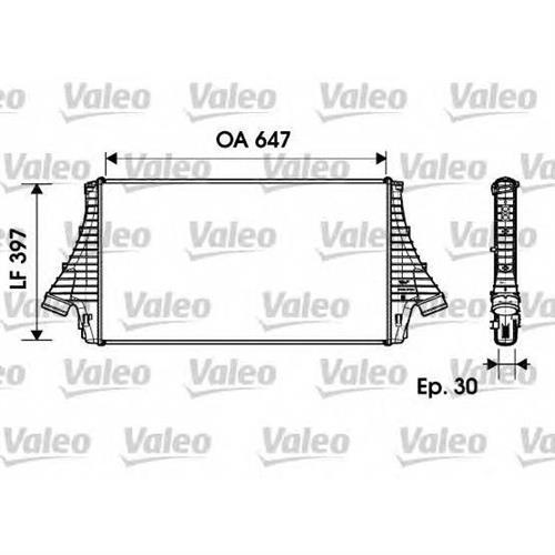 Интеркулер VALEO 817729