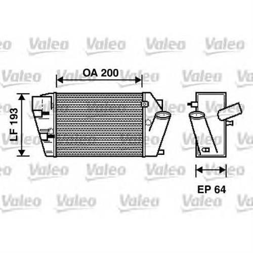 Интеркулер audi a8 (4e) 3.0 tdi quattro 02-10 VALEO 817870