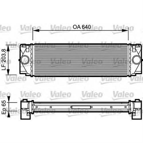 Интеркулер для Mercedes-Benz Sprinter 2.2-3.5i/CDi 06 VALEO 817994