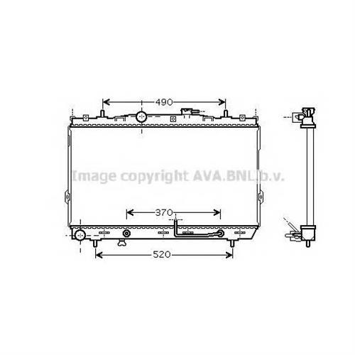 Радиатор системы охлаждения АКПП Hyundai Avante II/Elantra IV/Lantra IV 1.6-2.0i 00 AVA QUALITY COOLING HY2186