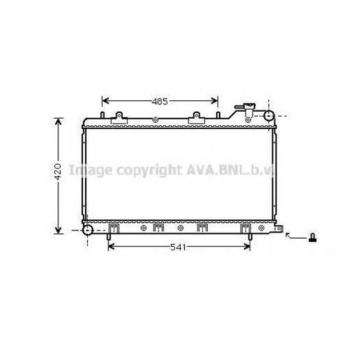 Радиатор системы охлаждения МКПП Subaru Forester 2.0i 98-02 /Impreza 1.6i 98-00 AVA QUALITY COOLING SU2045