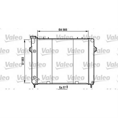Радиатор охлаждения двигателя 4.0L VALEO 732713