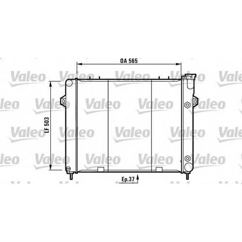 Радиатор охлаждения VALEO 732714