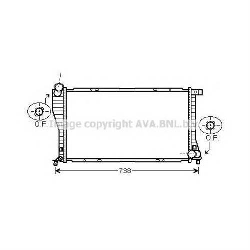 Радиатор AVA QUALITY COOLING BWA2234