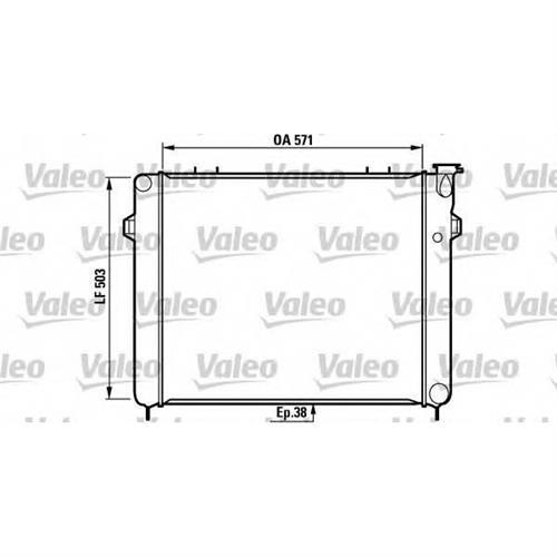 Радиатор охлаждения VALEO 731719