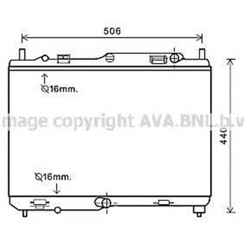 Радиатор AVA QUALITY COOLING FDA2441
