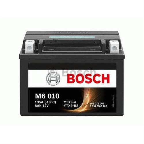 Аккумуляторная батарея прямая полярность 8Ah 80A 152/88/106 YTX9-BS moto BOSCH 0092M60100