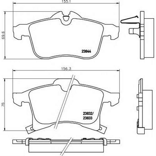 Колодки дисковые передние Chevrolet Meriva/Viva 02-12