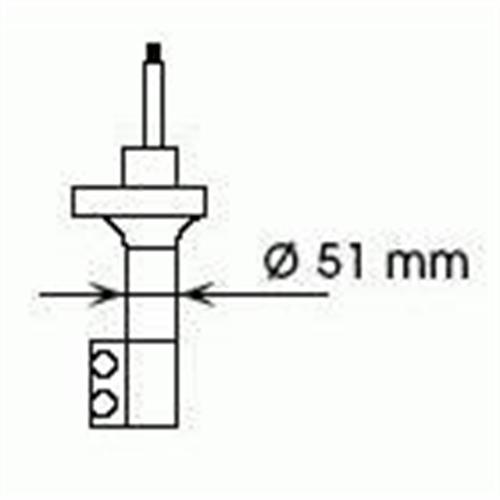 Амортизатор задний правый газовый без ABS d51mm для Nissan Sunny/100NX 1.6 2WD 90-94 KYB Excel-G 334045